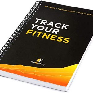 Workout Log Book & Fitness Journal - 25-Week Designed by Experts, w/Illustrations : Track Gym, Bodybuilding & Crossfit Progress - Sturdy Binding, Thick Pages & Laminated, Protected Cover 1-Pack