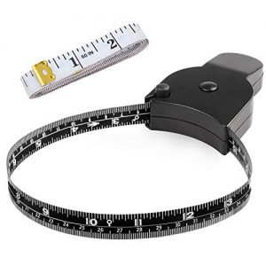 Body Measuring Tape 60 inch, Body Tape Measure, Lock Pin and Push Button Retract, Body Measurement Tape, Black