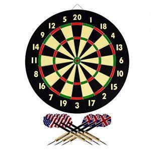 Hey! Play! 15-DG5218 TG Dart Game Set with 6 Darts and Board Dart Board